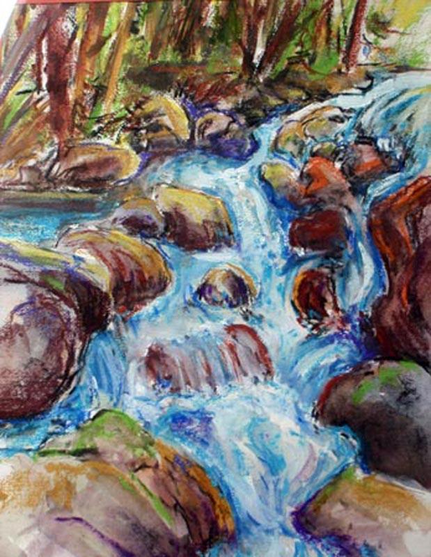 """Bridal Veil Creek in Yosemite"" artwork by Kay Duffy"