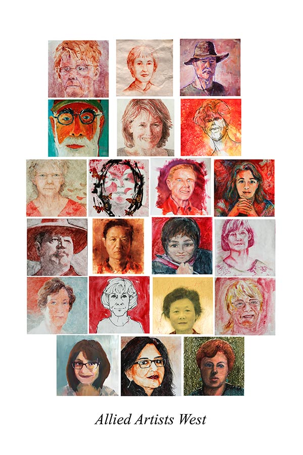 Painted Portraits of the 2017 members of Allied Artists West.